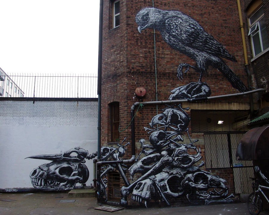 roa street art. Black Bedroom Furniture Sets. Home Design Ideas